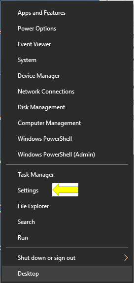 Win X Menu with Settings rather than Control Panel