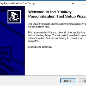 Yubikey personalisation tool installation 1