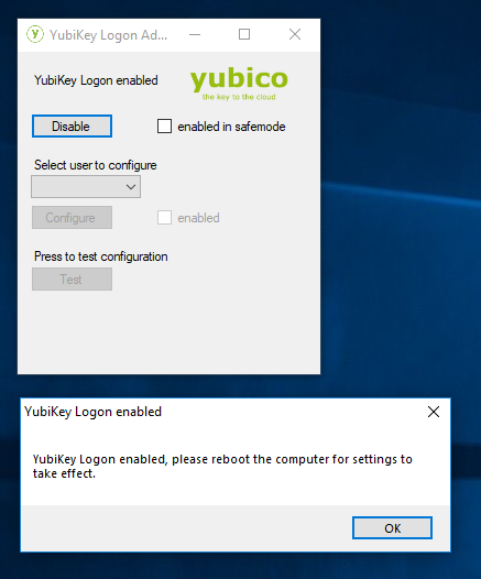 YubiKey for Windows Login 6