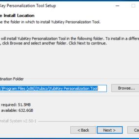 Yubikey personalisation tool installation 2
