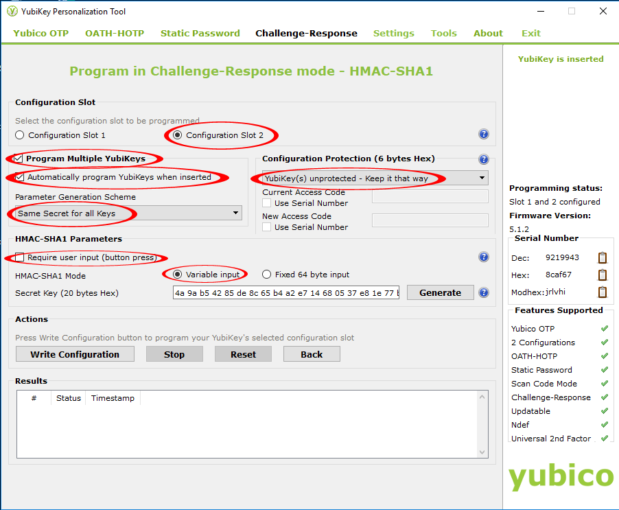 Configuring Yubikey 3