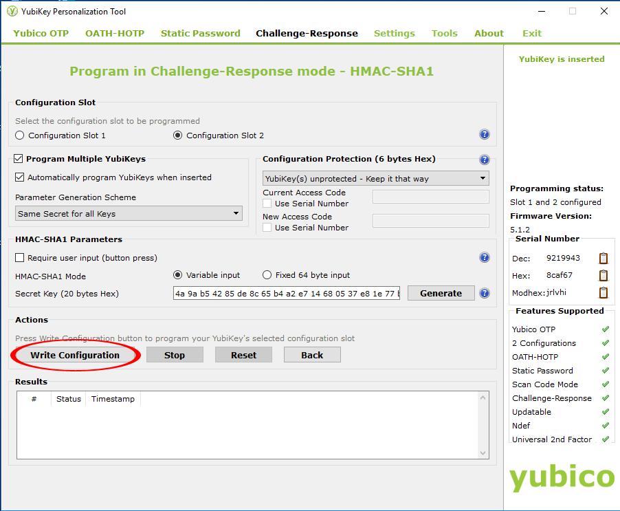 Configuring Yubikey 5