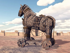 What is baiting? Using the Trojan horse