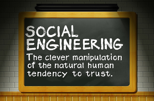 The clever manipulation of the natural human tendency to trust